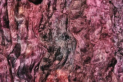 Heidifeathers® Mulberry Silk tops - 'Ruby' Hand / Space dyed / painted