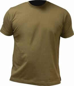 HIGHLANDER-PRO-FORCE-100-COTTON-CREW-NECK-T-SHIRT-S-XXL-OLIVE-GREEN-DESERT-TAN