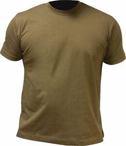 HIGHLANDER-PRO-FORCE-100-COTTON-CREW-NECK-T-SHIRT-S-XXL-OLIVE-GREEN-DESERT-TAN