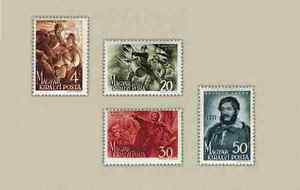 Hungary-1944-Lajos-Kossuth-set-MNH