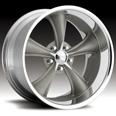 Boss Motorsports style 338 wheels rims, 18x8 front+20x10 rear, 5x4.75 gray