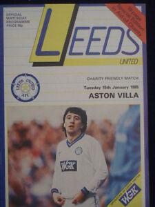 PROGRAMME-FRIENDLY-Leeds-v-Aston-Villa-15-Jan-1985