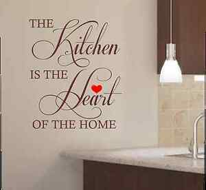The-Kitchen-Is-The-Heart-Of-The-Home-Kitchen-Wall-Art-Sticker-Decal-Graphic-K1