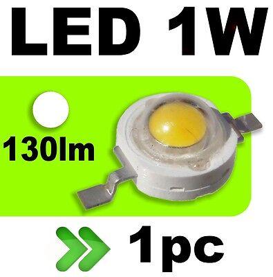 539/1# LED 1W Blanc pur 130lm --- 1PC