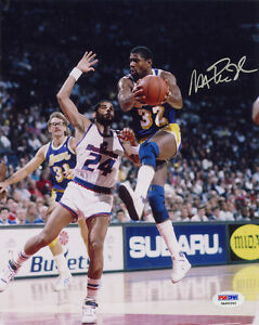 Magic-Johnson-SIGNED-8x10-Photo-Los-Angeles-Lakers-ITP-PSA-DNA-AUTOGRAPHED