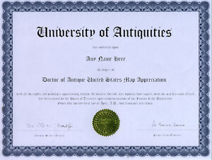 Doctor-Antique-United-States-Map-Appreciation-Diploma