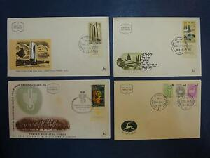 ISRAEL-FIRST-DAY-COVER-ENVELOPE-amp-STAMPS-MONUMENT-IDF-ROSH-PINNA-ZODIAC