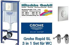 grohe rapid sl vorwandelement f r wand wc bh 113 sp lkasten unterputz 38528 ebay. Black Bedroom Furniture Sets. Home Design Ideas