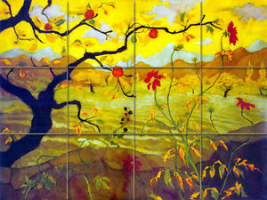 16 x 12 Art Paul Ranson Mural Tumbled Marble Backsplash Tile #431