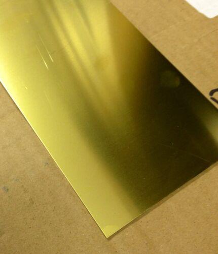 Brass sheet 0.5mm thick 100mm x 100mm
