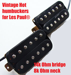 vintage hot paf alnico v humbucker pickups for les paul sg epiphone guitar ebay. Black Bedroom Furniture Sets. Home Design Ideas