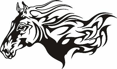 30 cm Aufkleber Autoaufkleber Pferd horse Tribal Tattoo Folie Folienaufkleber