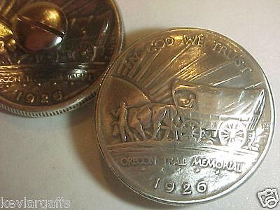 1926 Silver Oregon Trail Half Dollar Wagon Conchos
