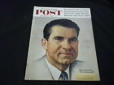 1960 NOVEMBER 5 SATURDAY EVENING POST MAGAZINE- NORMAN ROCKWELL COVER - G 310