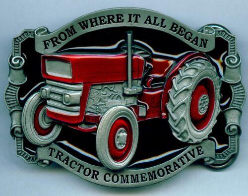 Gürtelschnalle Buckle Traktor Schlepper Tractor x