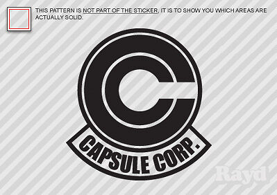 (2x) Capsule Corporation Sticker Die Cut Decal Self Adhesive Vinyl #2 dragonball