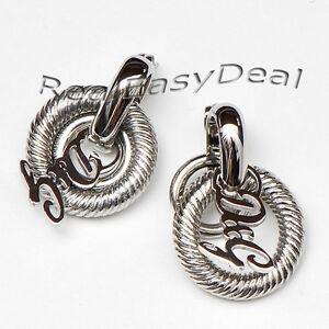 Dolce-amp-Gabbana-D-amp-G-Designer-DJ0770-Earrings-034-Crisp-034-BNIB-Authentic