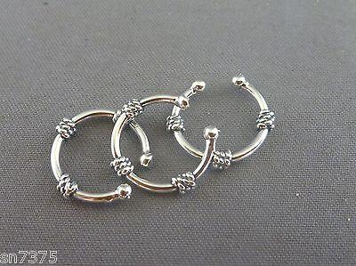 Bali ear cuff genuine .925 sterling silver earcuff clip
