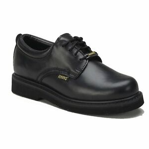 Rhino-40C01-Mens-LEATHER-Cushioned-Postman-Oxford-Work-OIL-SLIP-RESISTANT-Shoes