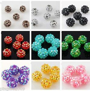 Jewelry-Making-20-pcs-12mm-Disco-Ball-Acrylicresin-Rhinestones-Charm-Beads