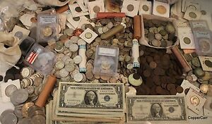 Estate-Coin-Collection-1-Pound-Old-USA-W-Silver-Coins-BIGGEST-Variety-Best-Value