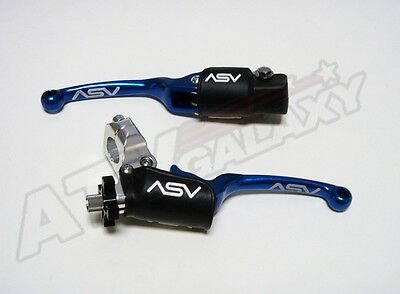 ASV BLUE F3 Brake & Clutch Levers Kit Suzuki LT-R450 LTR450 LTR 450 2006-2012