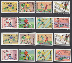 Viet-Nam-Dem-Rep-Sc-1180-1187-NGAI-1982-Soccer-Perf-amp-Imperf-sets-cplt-VF