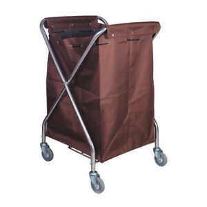 LAUNDRY CART Rolling Hotel Hamper NEW