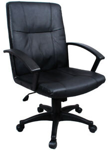 New-Black-Executive-Office-Leather-Computer-Desk-Chair