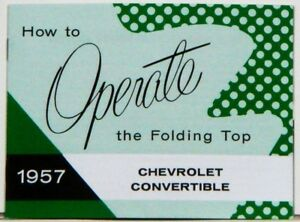 57-Chevy-Convertible-Top-Manual-1957-Guide-NEW-GM