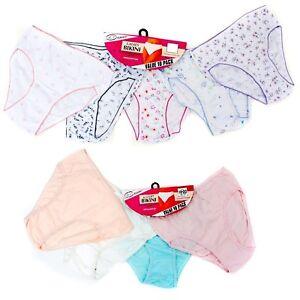12-x-Ladies-Women-100-Cotton-Underwear-Bikini-Briefs