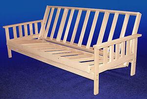 futon frame solid wood savannah futon sofa bed full size