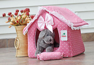 Large-Covered-Pink-Princess-Dog-Cat-Pet-Bed-House