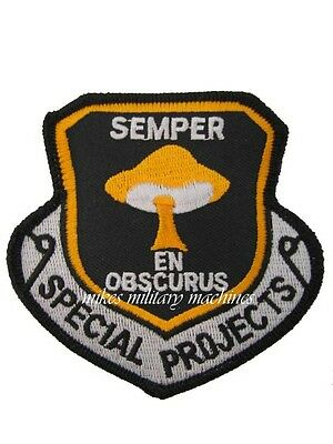 AIR FORCE AREA 51 BLACK OPS AREA SEMPER EN OBSCURUS F-117 STEALTH FIGHTER PATCH
