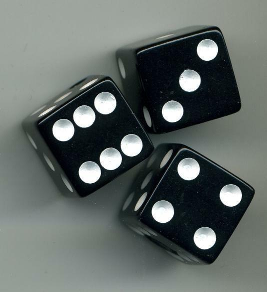 Dice Control Knobs - BLACK for Brian Setzer Gretsch Electric Guitar Volume Tone