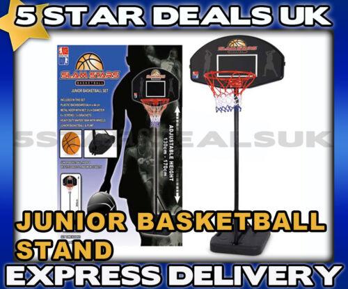 PUMP BALL BRAND NEW JUNIOR KIDS BASKETBALL HOOP NET ADJUSTABLE STAND