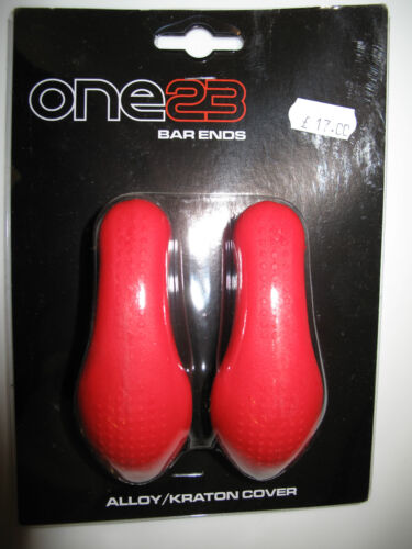 One23 Soft Grip Black Bar Ends NEW! Alloy//Kraton Cover