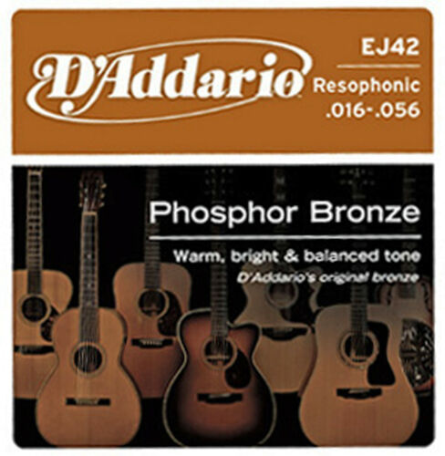 D'ADDARIO EJ42 PHOSPHOR BRONZE DOBRO RESONATOR BOTTLENECK SLIDE GUITAR STRINGS