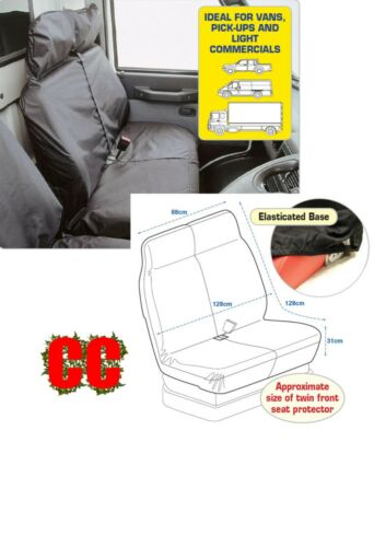 Van 4x4 commercial pick up protective DOUBLE seat cover protector HEAVYWEIGHT