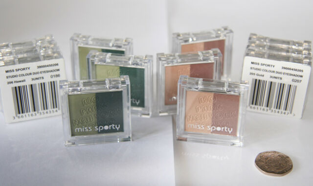 12 x MISS SPORTY STUDIO COLOUR DUO EYE SHADOW- RRP £42 - WHOLESALE MAKEUP
