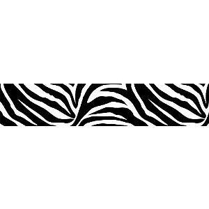 Zebra-Wallpaper-Border-Black-and-White-Peel-amp-Stick