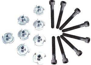 8PC-Black-Oxide-Speaker-Mounting-Bolt-Kit-10-32-x-1-5-034-Cap-Screw
