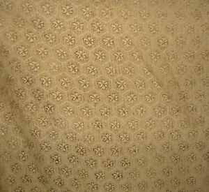 Gold-Flower-Print-Upholstery-Fabric-1-Yd