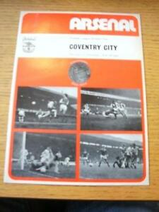 01121973 Arsenal v Coventry City  Slight Creased No obvious faults unless - <span itemprop=availableAtOrFrom>Birmingham, United Kingdom</span> - Returns accepted within 30 days after the item is delivered, if goods not as described. Buyer assumes responibilty for return proof of postage and costs. Most purchases from business s - Birmingham, United Kingdom