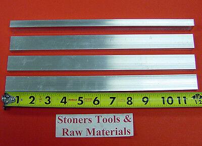 "4 Pieces 1/2"" X 1"" ALUMINUM 6061 FLAT BAR 12"" long T6511 .500"" Plate Mill Stock"