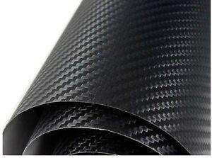 BLACK-CARBON-FIBRE-3D-STICKER-VINYL-SHEET-AIR-FREE-BUBBLE-CARS-2m-x1-52m