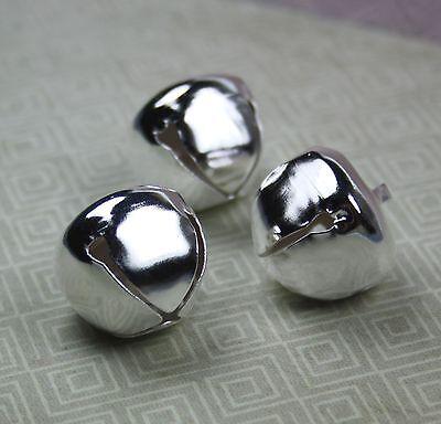 10pcs - Big 20 mm silver jingle bells Charm Christmas Pendant