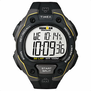 Timex-T5K494-Men-039-s-Traditional-50-Lap-Ironman-Sports-LCD-Digital-Watch