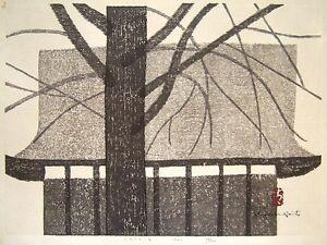 K Nakajima Woodblock Prints Details about Rare KIYOSHI SAITO Signed 1962 Woodblock Print