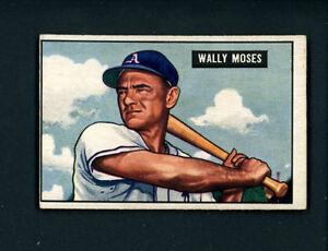 1951-Bowman-HIGH-261-Wally-Moses-A-039-s-EX-MT